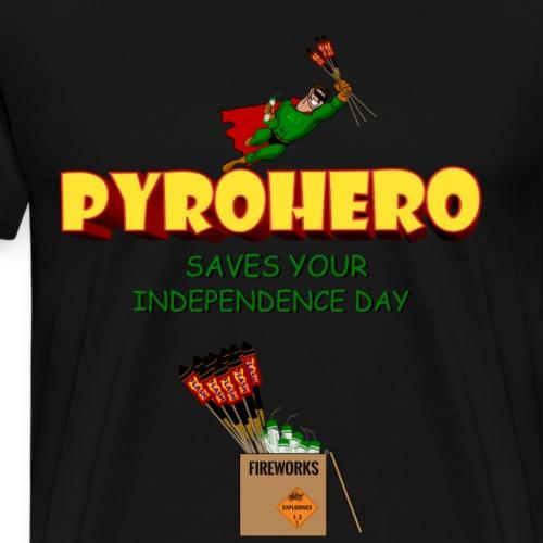 Pyro Hero Fireworks - Männer Premium T-Shirt