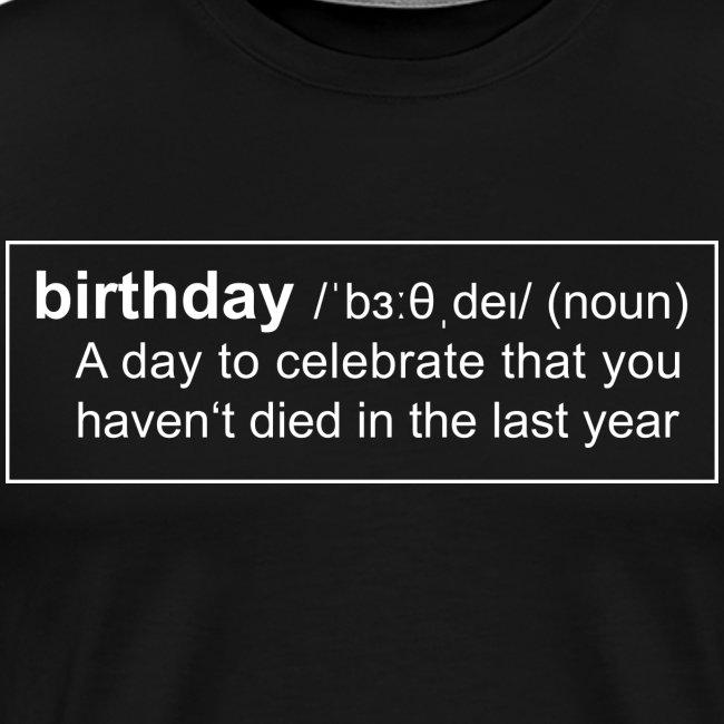 Birthday - Geburtstag