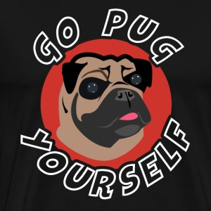 Gå PUG Yourself - Herre premium T-shirt