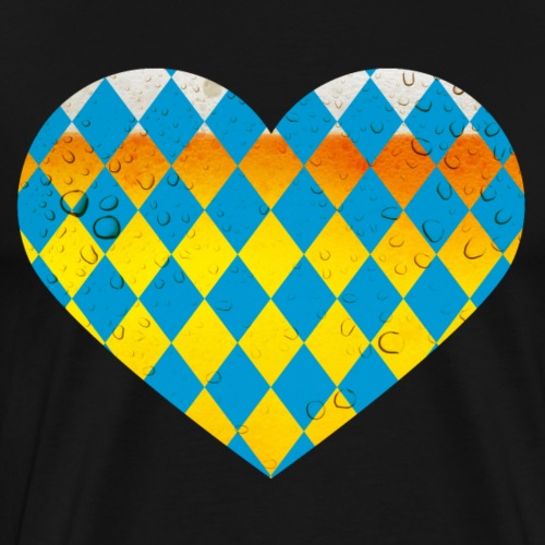 Bayern Herz Okktoberfest Bier - Männer Premium T-Shirt