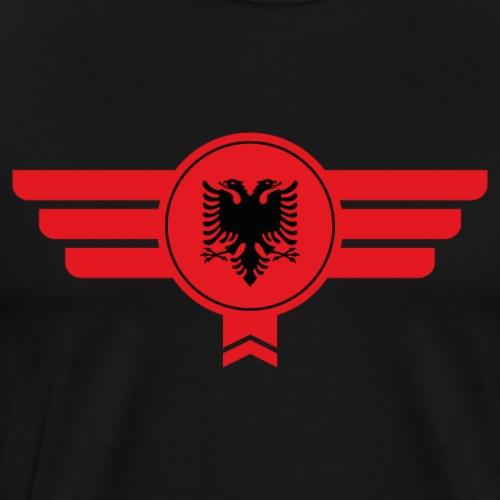Albanien Emblem Flagge - Männer Premium T-Shirt