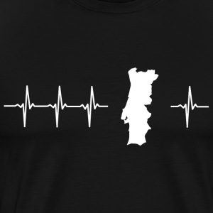 I love Portugal (Portugal heartbeat) - T-shirt Premium Homme