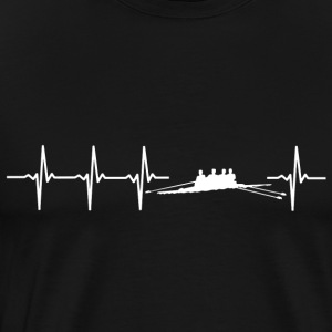 I love rowing (rower heartbeat) - Men's Premium T-Shirt