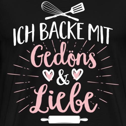 Backen mit Gedöns Black - Männer Premium T-Shirt