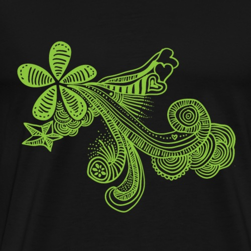 dibujo-verde - Camiseta premium hombre