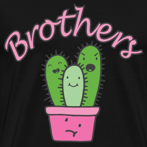 Brüder Kaktus Familie Sketch Shirts Geschenkidee - Männer Premium T-Shirt