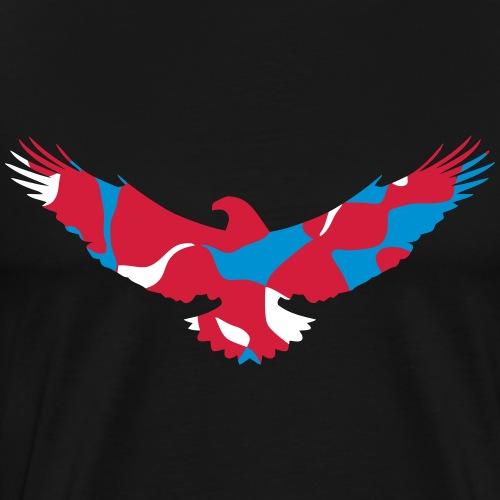 USA UNITED STATES OF AMERICA EAGLE - CAMOUFLAGE - Männer Premium T-Shirt