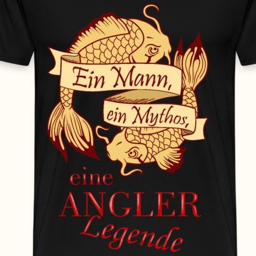 Der Angler - gelb - Männer Premium T-Shirt