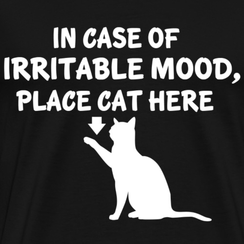 IN CASE OF IRRITABLE MOOD PLACE CAT HERE ! - Männer Premium T-Shirt
