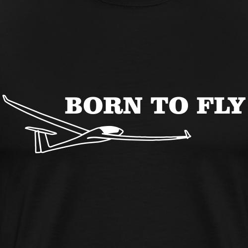 Geboren Segelflieger Geschenk Flieschen Thermik - Männer Premium T-Shirt