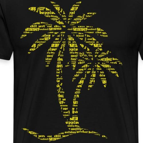 Palme SOMMER gelb - Männer Premium T-Shirt
