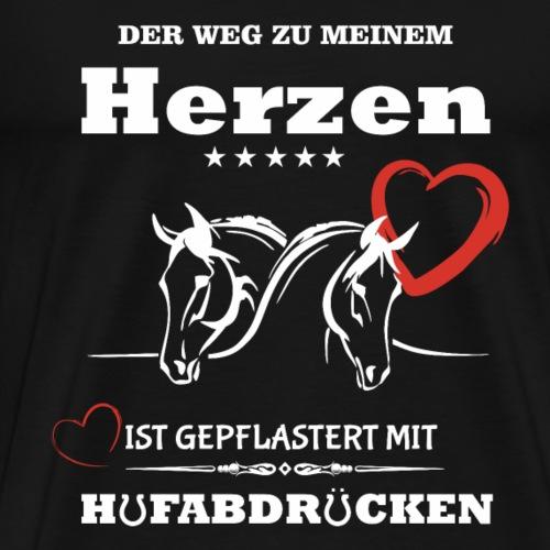 Pferde T-Shirt - Der Weg zu meinem Herzen - Männer Premium T-Shirt