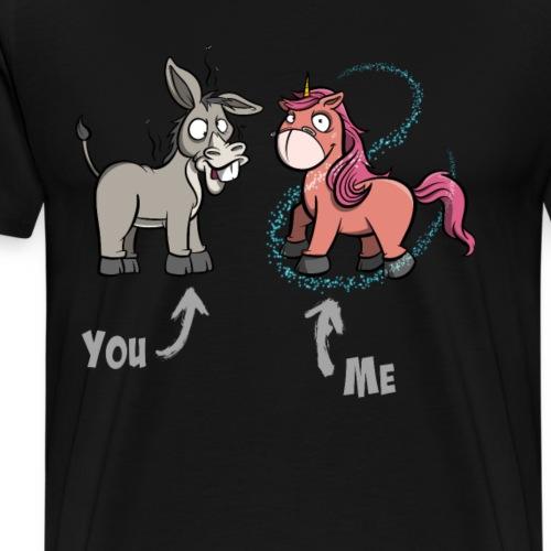 Einhorn - Esel - Ich Du - Männer Premium T-Shirt