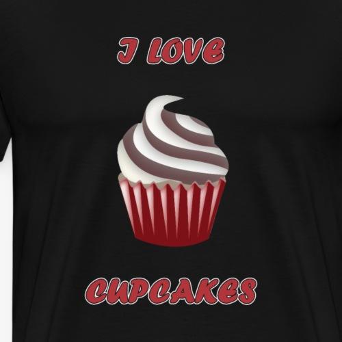 I love Cupcakes - Männer Premium T-Shirt