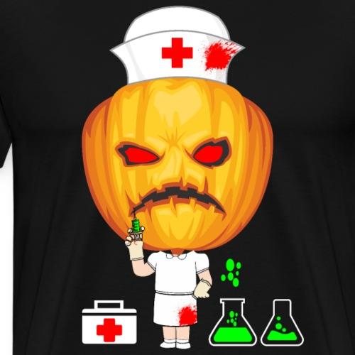 Enfermera de Turno de Halloween - Camiseta premium hombre