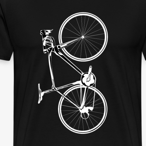 weißes Fahrrad - Männer Premium T-Shirt