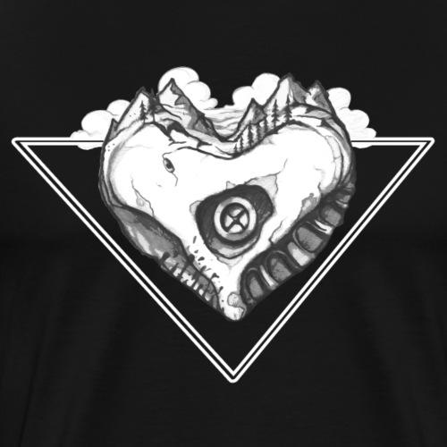 Berg Boulder Herz - Kletter Shirt - Männer Premium T-Shirt