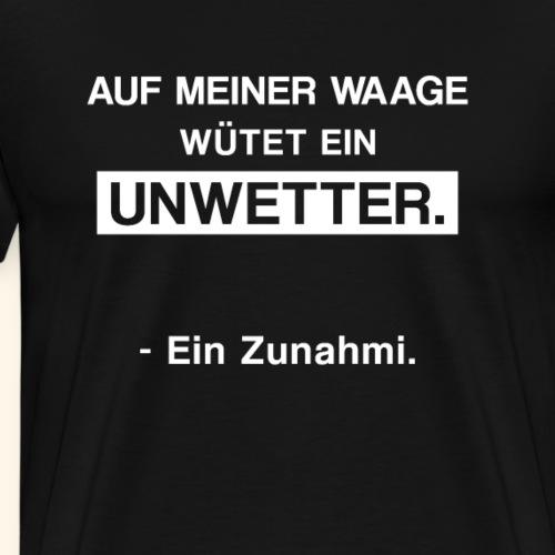 Meine Waage mag mich nicht. - Männer Premium T-Shirt