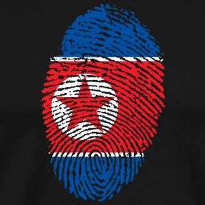 North Korea fingerprint - Men's Premium T-Shirt