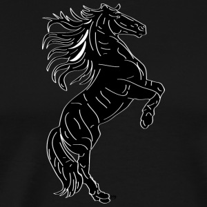 horse black - Men's Premium T-Shirt