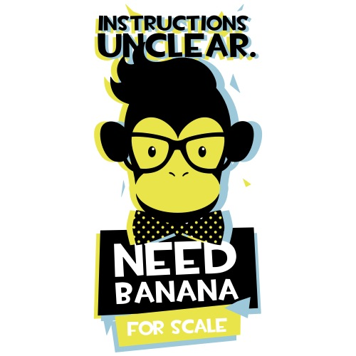 Instructions Unclear Need Banana for Scale - Men's Premium T-Shirt