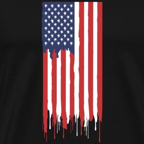 Amerikanische Flagge - Männer Premium T-Shirt