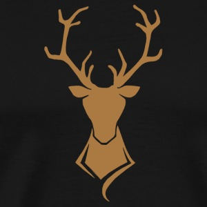 Hirsch Logo Brown / Gold - Mannen Premium T-shirt