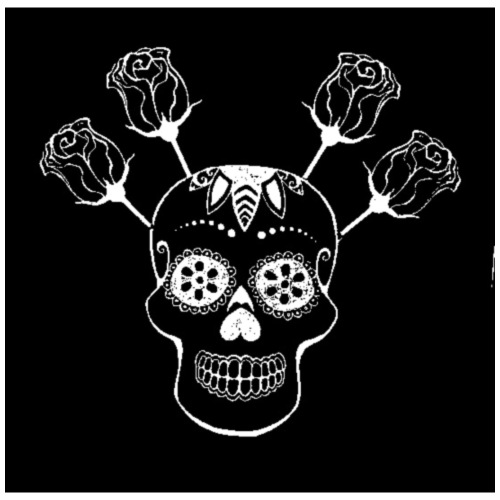 Blumenpirat RosenSchädel - Männer Premium T-Shirt