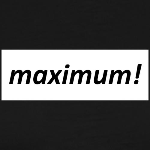 maximum! box logo - Männer Premium T-Shirt