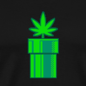 retro Weed - Premium T-skjorte for menn