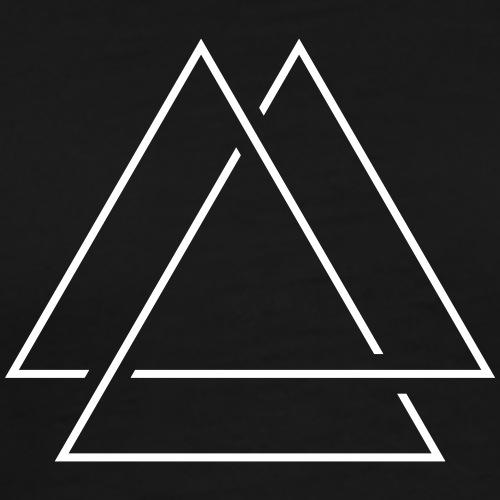 Modern Triangle - Männer Premium T-Shirt