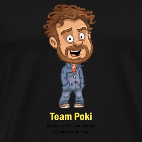 T ShirtMotiv Team Poki (schwarze Schrift) - Männer Premium T-Shirt