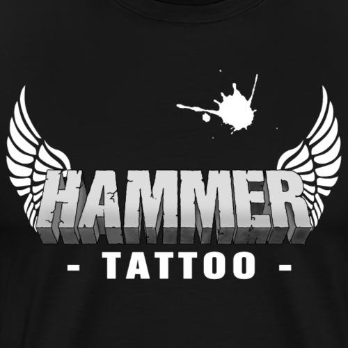 Hammer Tattoo Logo - Männer Premium T-Shirt