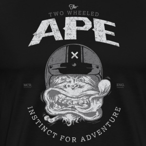 To hjul Ape Windy Biker T skjorte - Premium T-skjorte for menn