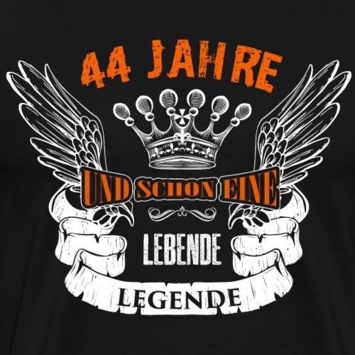 44 Geburtstag Geschenk Jahre lebende Legende Spruc - Männer Premium T-Shirt