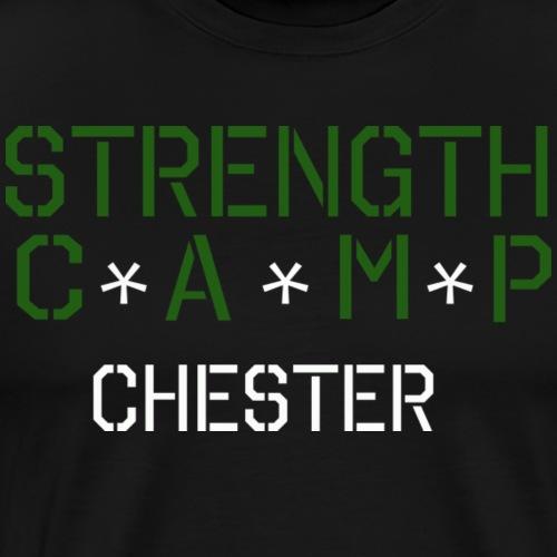 strength camp green and white - Men's Premium T-Shirt