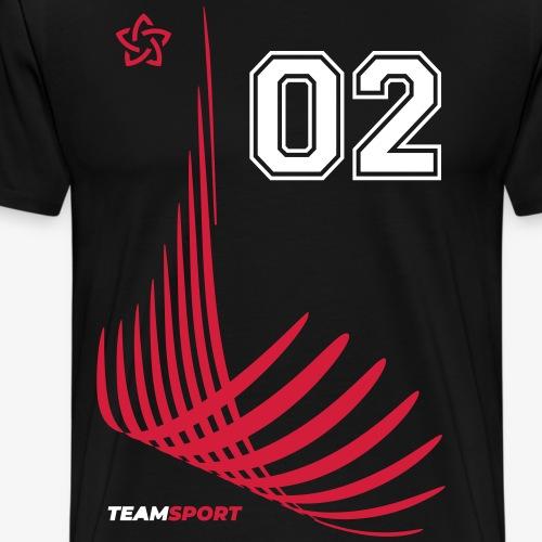 TEAM SPORT 02 TRIKOT-Trikotnummern Geschenk Shirts - Männer Premium T-Shirt