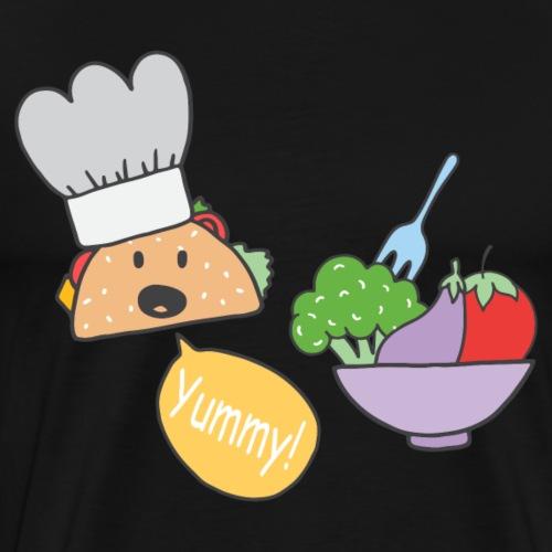 Lecker Essen Koch Salat Gemüse Sketch Shirts Taco - Männer Premium T-Shirt