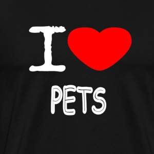 I LOVE PETS - Men's Premium T-Shirt