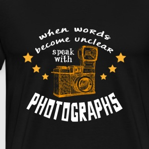 Photographer Gift Camera - Men's Premium T-Shirt