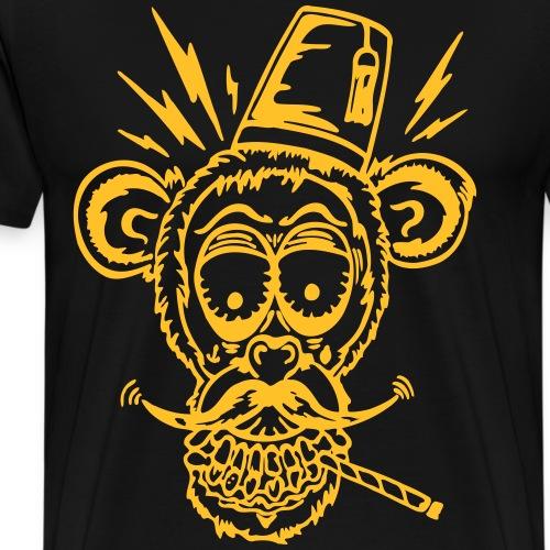 Monkeyface (Motivfarbe änderbar) - Männer Premium T-Shirt