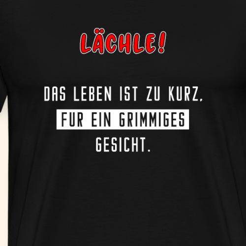 Lache mal wieder. - Männer Premium T-Shirt
