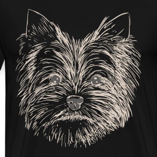 Yorkshire Terrier Zeichnung Geschenk - Männer Premium T-Shirt