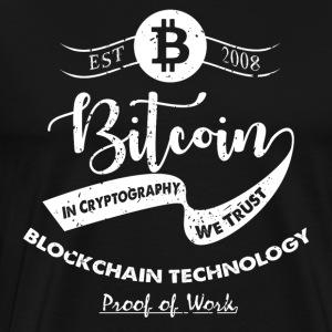 Bitcoin vintage design 10 - Herre premium T-shirt