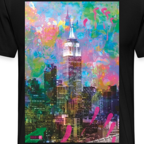 04 Good Morning NEW YORK! Poster Margarita Art - Männer Premium T-Shirt