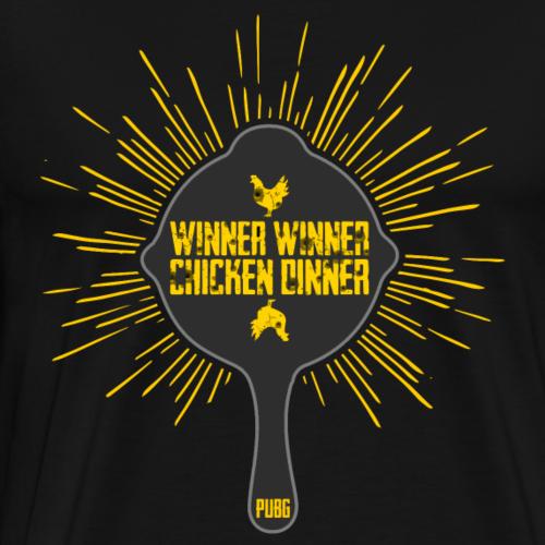 Pfanne - Winner Winner Chicken Dinner - PUBG - Männer Premium T-Shirt