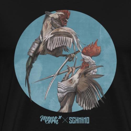monocorn X Schmino // Hahnenkampf - Männer Premium T-Shirt