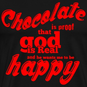 CHOCOLATE is proof red - Men's Premium T-Shirt