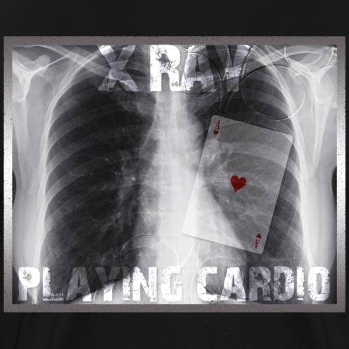 X RAY PLAYING CARDIO - T-shirt Premium Homme