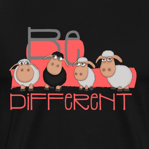 Be different: Schwarzes Schaf und weiße Schafe - Männer Premium T-Shirt